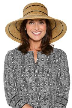 Coolibar Women's Aubrey Wide Brim Beach Hat UPF 50+