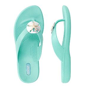Oka-B Sandy Sea Glass Flip Flop