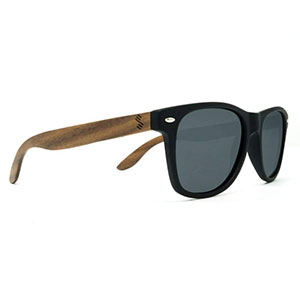 SLYK Shades classic smoke wood sunglasses