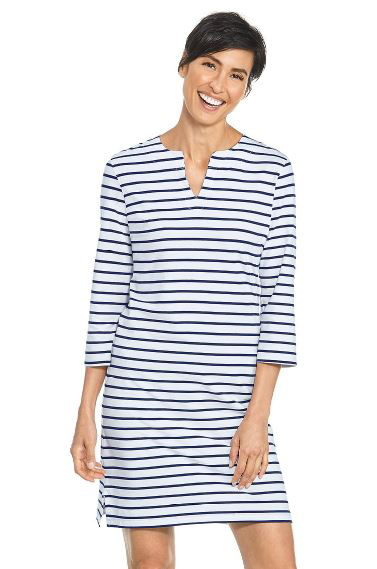 Coolibar coolibar striped oceanside tunic dress