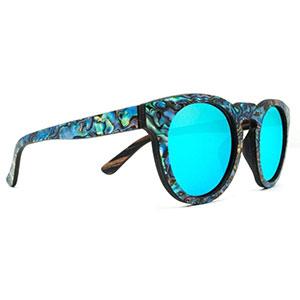 SLYK Shades mermaid ice blue wood sunglasses
