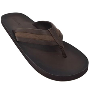 Tidewater Sandals mens brown vegan leather flip flop